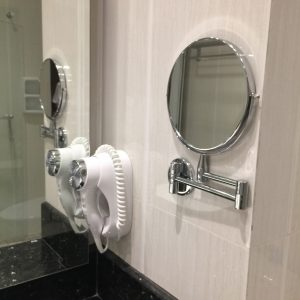 Hairdryer and Magnifying Mirror